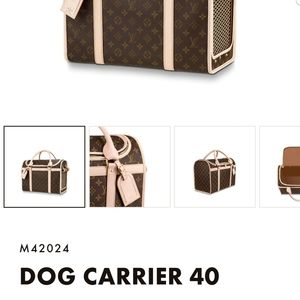 Lv dog carrier used beautiful